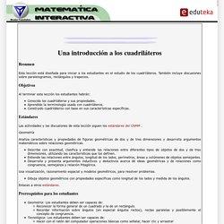 EDUTEKA-Matemática Interactiva-Una introducción a los cuadriláteros