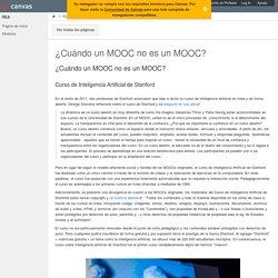 ¿Cuándo un MOOC no es un MOOC?: Introducción a la Educación Abierta