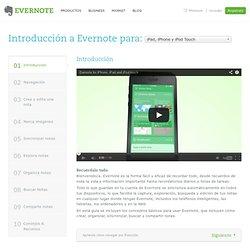 Introducción a Evernote para iPhone, iPad y iPod Touch