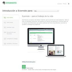 Introducción a Evernote para Mac