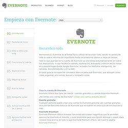 Introducción a Evernote Web