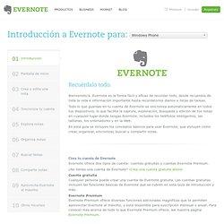Introducción a Evernote para Windows Phone