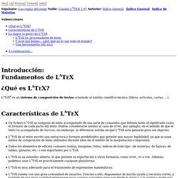 Introducción: Fundamentos de LATEX