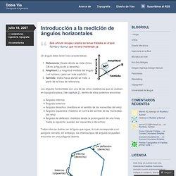 Introducción a la medición de ángulos horizontales « Doble Vía · Ingeniería Civil