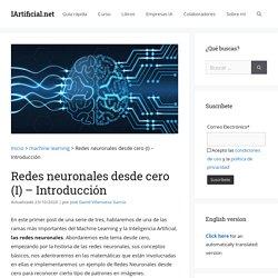 Redes neuronales desde cero (I) - Introducción - IArtificial.net