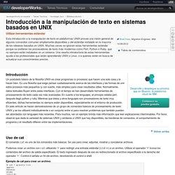 Introducción a la manipulación de texto en sistemas basados en UNIX