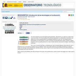 Introducción de las tecnologías en la educación