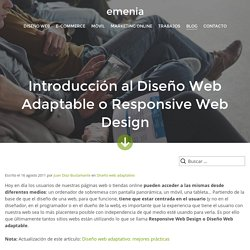 Introducción al Diseño Web Adaptable o Responsive Web Design