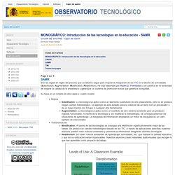 Introducción de las tecnologías en la educación - SAMR