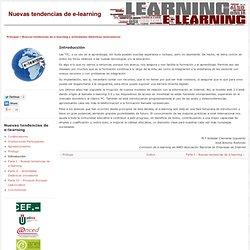 Nuevas tendencias de e-learning