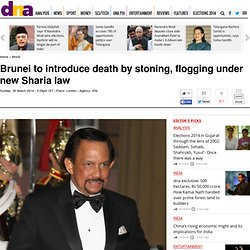 Brunei to introduce death by stoning, flogging under new Sharia law