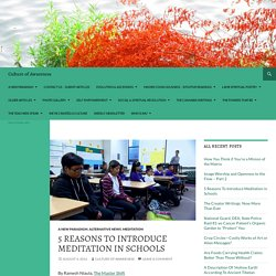 5 Reasons To Introduce Meditation in Schools