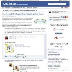Facebook Introduces Open Graph Action Links