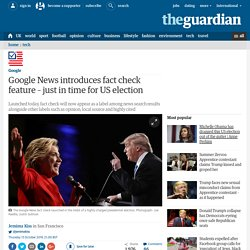 Google News introduces fact check feature – just in time for US election