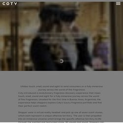 Coty introduces multi sensory fragrance discovery experience, powered by mixed reality and connected scents