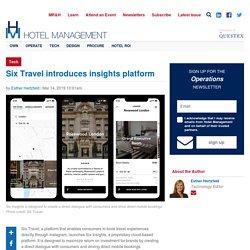 Six Travel introduces insights platform