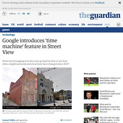 Google introduces 'time machine' feature in Street View