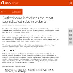 Outlook.com introduces the most sophisticated rules in webmail