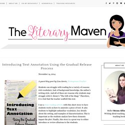Introducing Text Annotation Using the Gradual Release Process - The Literary Maven