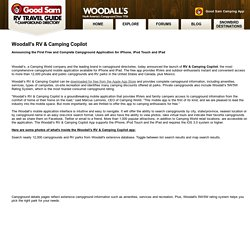 Introducing Woodall's Campground App/RV Park Application for iPhone: Woodall's RV & Camping Copilot