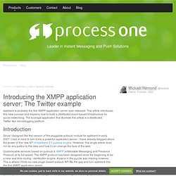Introducing the XMPP application server: The Twitter example - P