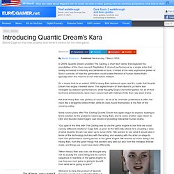 Introducing Quantic Dream's Kara