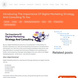 Introducing The Importance Of Digital Marketing Strategy And Consulting To You - Ascentspark