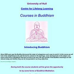 Introducing Buddhism course