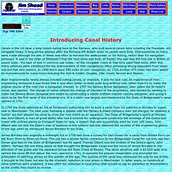 Introducing Canal History