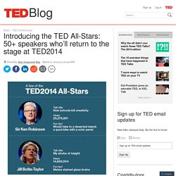 Introducing the TED All-Stars: 50+ classic speakers