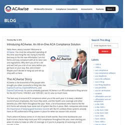 Introducing ACAwise: An All-in-One ACA Compliance Solution