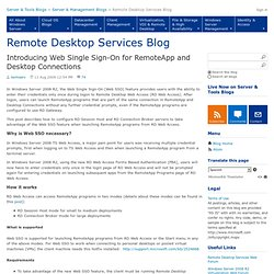 Introducing Web Single Sign-On for RemoteApp and Desktop Connections - Remote Desktop Services (Terminal Services) Team Blog