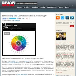 Introducing The Conversation Prism Version 3.0