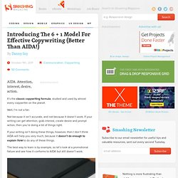 Introducing The 6 + 1 Model For Effective Copywriting (Better Than AIDA!) - Smashing UX Design