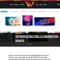 Introducing Crello Animation Maker