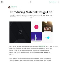Introducing Material Design Lite — Google Developers