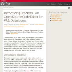 Introducing Brackets - An Open Source Code Editor for Web Developers - Safari Blog