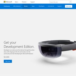 Introducing the Microsoft HoloLens Development Edition