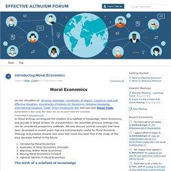 Introducing Moral Economics