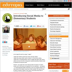 Introducing Social Media to Elementary Students