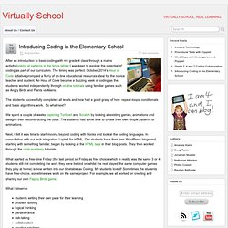 Introducing Coding in the Elementary School » Virtually School