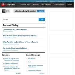 Introducing Executive View for iPhone – The eMarketer Blog
