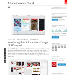 Introducing Adobe Experience Design CC (Preview)