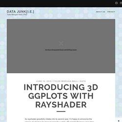 rayshader: Introducing 3D ggplots with rayshader