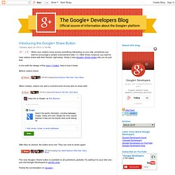 Introducing the Google+ Share Button