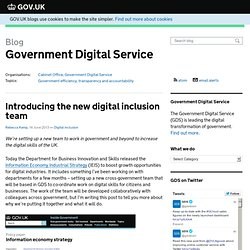 Introducing the new digital inclusion team