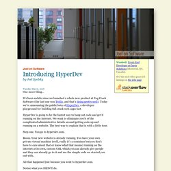 Introducing HyperDev