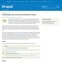 Introducing a new Community Initiatives Process
