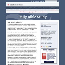 Quiet Time Bible Study - Introducing Daniel