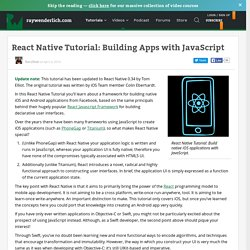 Introducing React Native: Building Apps with JavaScript
